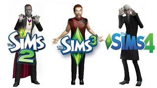♦ Sims 2 vs Sims 3 vs Sims 4: Vampires (Part 1)