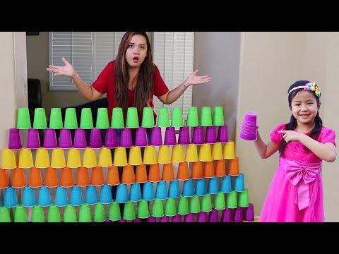 Xxx Mp4 Jannie Builds COLORFUL Cup Wall Pretend Play W Ice Cream Toys 3gp Sex