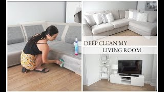 CLEAN MY HOME WITH ME   DEEP SOFA CLEANING   SPEED CLEANING   CARLY JADE DRAKE