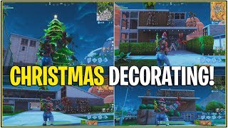 *NEW* Fortnite: EPIC FINALLY DECORATING THE MAP FOR CHRISTMAS! (Christmas 2018)