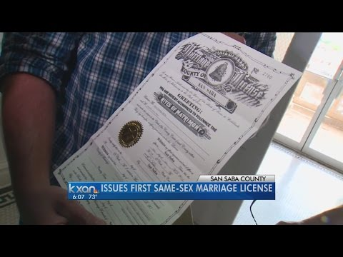 San Saba County issues same-sex marriage license