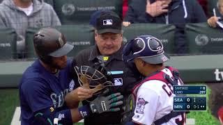 MLB Playback - Hitter, Catcher, Umpire get hit compilation