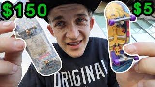 $5 Tech Deck VS $150 fingerboard