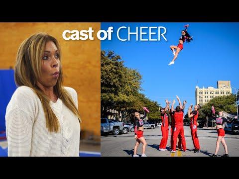 GYMNASTS vs COACH Stunts and Acrobatics Challenge ft. Cast of Netflix Cheer