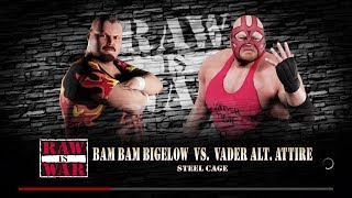 RAW Semi Final Cage Match l Bam Bam Bigelow v. Vader