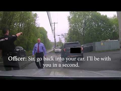 Cop Pulls over Judge Judge uses is position of power to get off quickly.