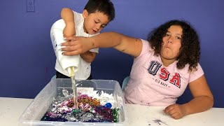 MY BABY BROTHER GABE PICKS MY SLIME INGREDIENTS