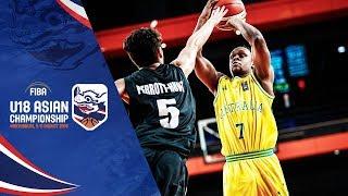 Australia v New Zealand - Full Game - FIBA U18 Asian Championship 2018