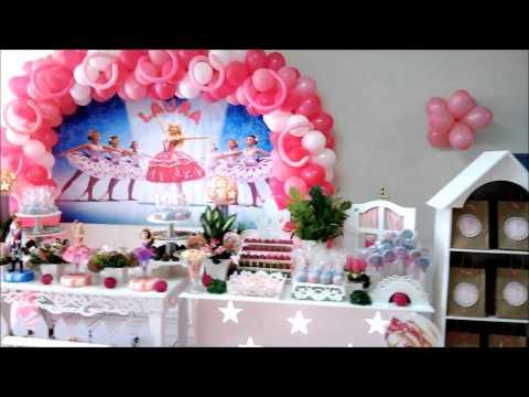 Decoração da Barbie e as Sapatilhas Magicas Clean Big Festa