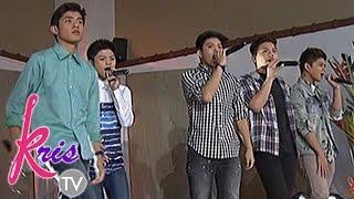 Gimme 5 sings 'Hatid Sundo' on Kris TV