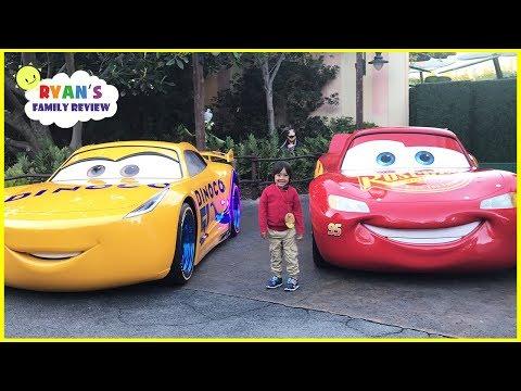 DisneyLand Amusement Ride and Giant Lightning McQueen