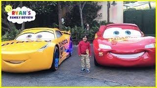 DisneyLand Amusement Ride and Giant Lightning McQueen!