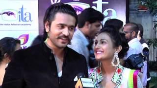 Ashish Sharma with Wife Archana at ITA Awards