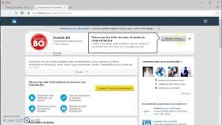 Page entreprise OUTSIDE BO Linkedin et Viadeo