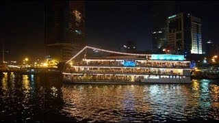 Saigon River Restaurant Cruise Vietnam Ho Chi Minh City Christmas Time LED HD