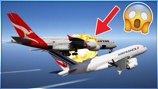 Two Airbus A380s Collide In The Air | GTA 5