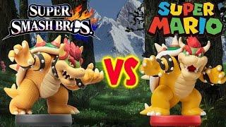 Super Smash Bros Bowser Amiibo vs Super Mario Bowser Amiibo Comparison