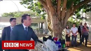 Amazon fires: President Bolsonaro responds to criticism - BBC News