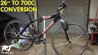 "26"" To 700c Wheel Conversion On Mountain Bike"
