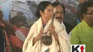 Mamata Banerjee inaugurating Baul Utsav at Birbhum