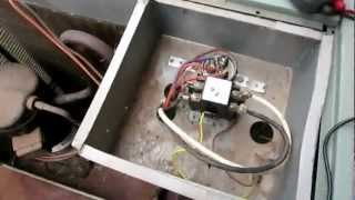 AC not starting up - Air Conditioner condensing unit lost power - Replace Contact contactor relay