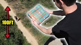 CAN 10,000 RUBBER BANDS PROTECT AN XBOX FROM 100FT DROP?!