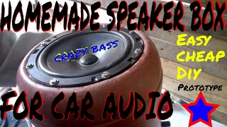 Homemade Speaker Box | Speaker Enclosure | Easy To Make | Free | DIY | Crazy Bass | For Car Audio