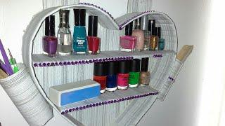 manualidad : organizador de pared en forma de corazón♥heart-shaped cardboard wall organizer