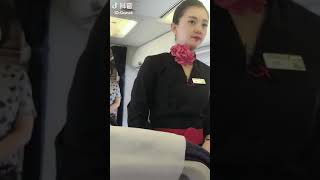 Beautiful chinese air hostess