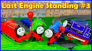 THOMAS AND FRIENDS TRACKMASTER LAST ENGINE STANDING #3 - DEMOLITION DERBY TOYS TRAIN FOR KIDS