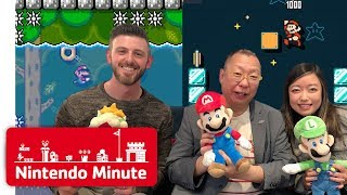 Takashi Tezuka Rates Our Super Mario Maker 2 Levels - Nintendo Minute