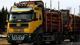 Volvo FH16 580 6x4 Timber Truck Loading