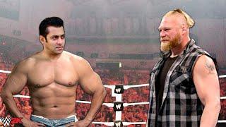 Tiger Zinda Hai Movie Hero Salman Khan vs Brock Lesnar WWE Raw Full Show highlights WWE 2k PS4 PC