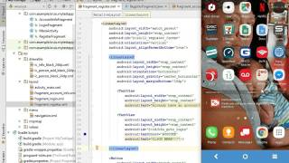 05   Android Studio   App Building   Register Fragment Buttons and OnClickListener