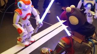 JavaOne Robot Lightsaber Battle