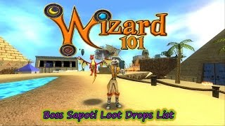 Wizard101 2017 Test Realm Sapoti Wooden Key Boss Drops List