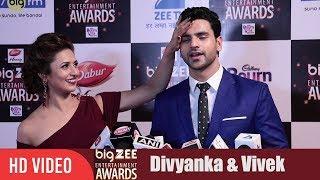 Divyanka Tripathi and Vivek Dahiya at Big Zee Entertainment Awards 2017   #BigZeeAwards