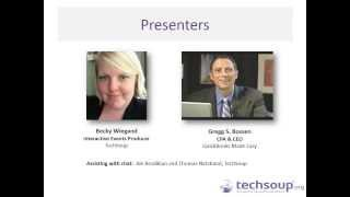 Webinar - QuickBooks 2014 for Nonprofits and Charities - 2013-01-23
