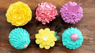 6 Buttercream Frosting Styles with a PETAL Piping Tip | My Cupcake Addiction