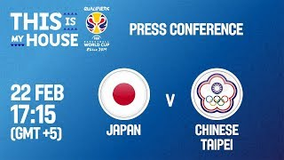 Japan v Chinese Taipei - Press Conf - FIBA Basketball World Cup 2019 - Asian Qualifiers