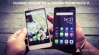 Xiaomi Redmi Note 3 VS Huawei honor 5x comparison review