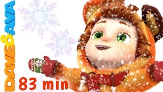 Ten Little Snowflakes | Christmas Songs for Kids | Nursery Rhymes from Dave and Ava