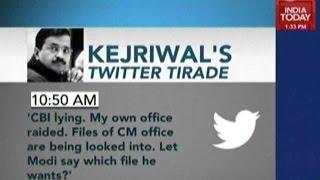 CBI Raids In Delhi: Kejriwal Goes On Anti-Modi Rant On Twitter
