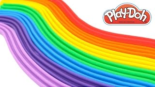 Learn Colors Make a Rainbow with Play-Doh Creative Fun for Kids with Modelling Clay RainbowLearning