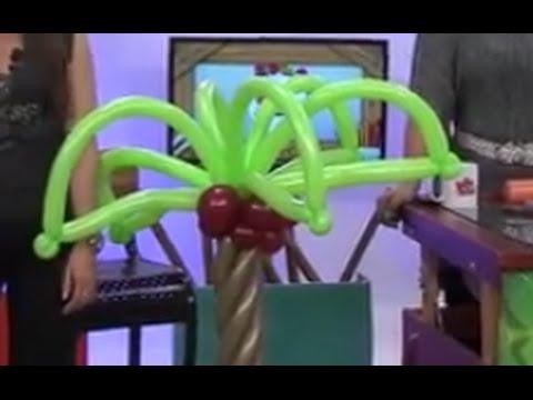 Globoflexia Como hacer una Palmera con Globos para decorar Fiestas Hogar Tv por Juan Gonzalo Angel