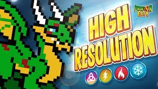 The High Resolution Dragon!! Heroic Race: Pixel Art - Dragon City
