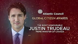 Global Citizen Awards 2017 - Queen Rania Al-Abdullah of Jordan and  Prime Minster Justin Trudeau