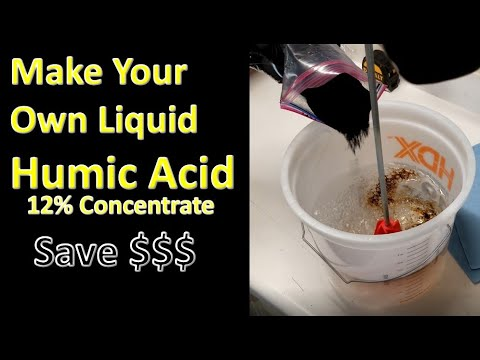 Make Your Own Liquid Humic Acid from Powder Cheap