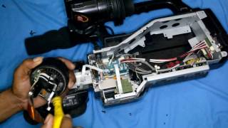 how to repair sony hd 1500 camera lens