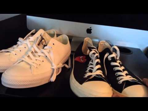 SNKRLOG 54: CONVERSE CHUCK TAYLOR II OXFORD WHITE X COMMES DES GARCON ALL STAR  BLACK